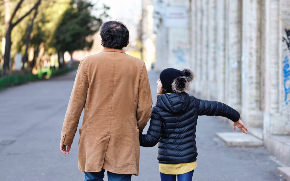 responsible decision making adult and child walking
