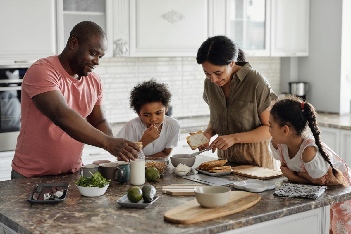 relationship skills family making breakfast